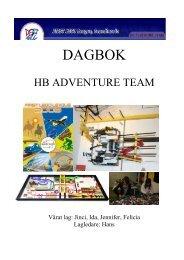 Loggbok från HB Adventure Team, KFUM i Skelleftåe. - Technichus