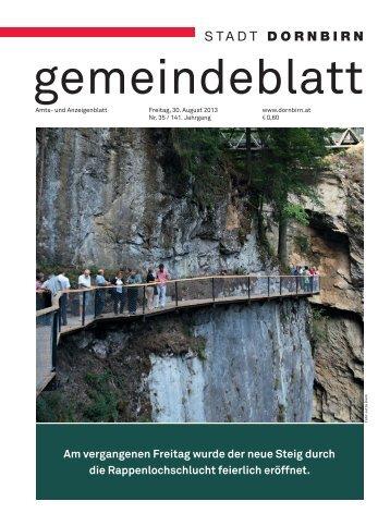 Dornbirner Gemeindeblatt KW 35 vom 30.08.2013