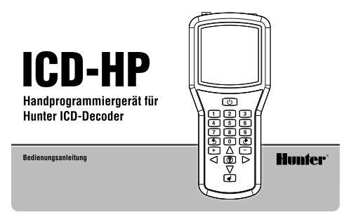 Handprogrammiergerät für Hunter ICD-Decoder - Hunter Industries