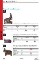deel 19 - snijmachines, plooimachines, hydraulische persen - EL-BEE