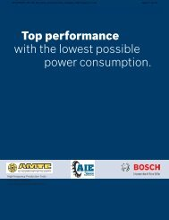 Top performance with the lowest possible power consumption. - amtc
