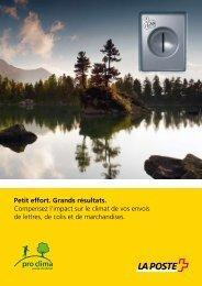 pro clima - La Poste Suisse
