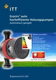 Datenblatt der Laing ecocirc Pumpen - Killus-Technik