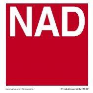 NAD Brochure 2012 Nederlands