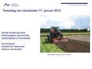 Dansk forskning med biofumigation og termisk bekæmpelse af ...