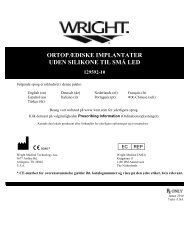 Small Joint Orthopedic Silicone Implants - Wright Medical ...