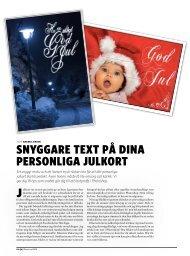 Snyggare text på dina perSonliga julkort - Kamera & Bild