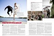 Konsten att fota bröllop - Kamera & Bild