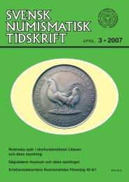 APRIL 3 • 2007 - Svenska Numismatiska Föreningen