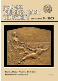 SEPTEMBER 5 • 2003 - Svenska Numismatiska Föreningen