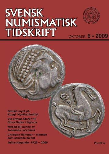 OKTOBER 6 • 2009 - Svenska Numismatiska Föreningen