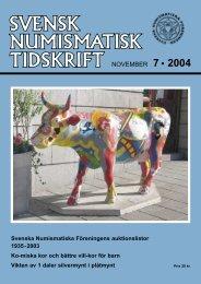 NOVEMBER 7 • 2004 - Svenska Numismatiska Föreningen