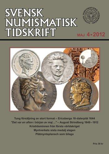 SNT 4 • 2012 - Svenska Numismatiska Föreningen