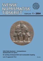 FEBRUARI 1 • 2004 - Svenska Numismatiska Föreningen
