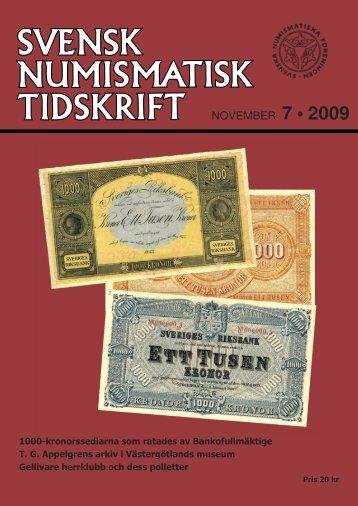 7 • 2009 - Svenska Numismatiska Föreningen