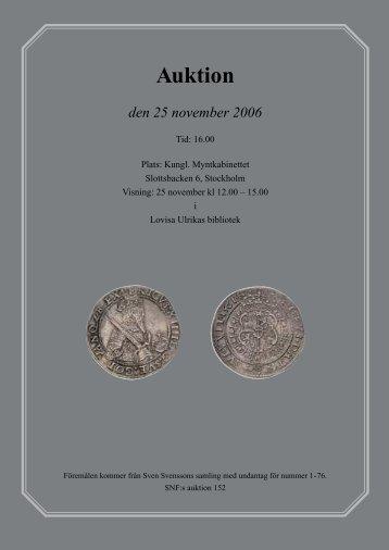 Bilaga till SNT 2006/6 - Svenska Numismatiska Föreningen
