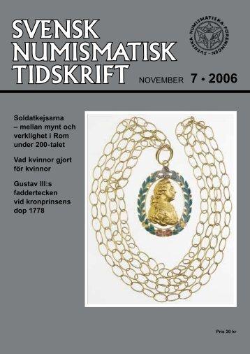 SNT 7 • 2006 - Svenska Numismatiska Föreningen