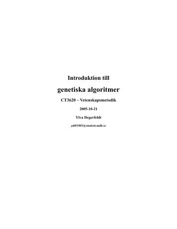 Genetiska algoritmer (39D), Ylva