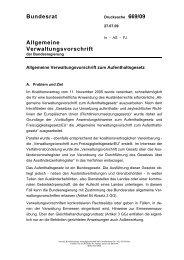 Allgemeine Verwaltungsvorschrift zum AufenthG - Bundesrat