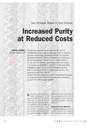 Increased Purity at Reduced Costs