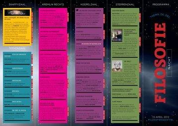 Download het programma (pdf) - Filosofie Magazine