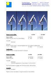 Info en prijzen Venco 1000 & Venco 300 - PyroSolar