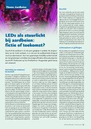 LEDs als stuurlicht bij aardbeien : fictie of toekomst ? - Lemnis Lighting