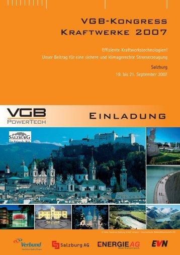 Einladung VGB-Kongress 2007 - VGB PowerTech
