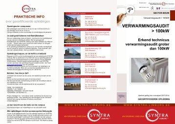 VERWARMINGSAUDIT > 100kW - SYNTRA Limburg