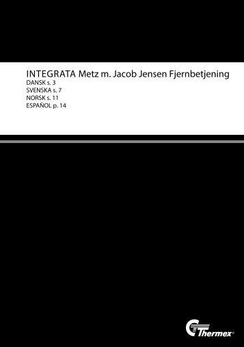 INTEGRATA Metz m. Jacob Jensen Fjernbetjening - Thermex