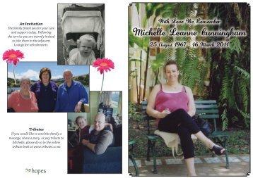 Michelle Leanne Cunningham - Tributes
