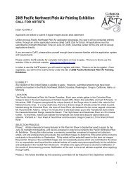 2009 Pacific Northwest Plein Air Painting Exhibition - Columbia ...