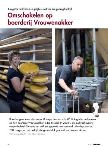 Omschakelen op boerderij Vrouwenakker - Vwg.net