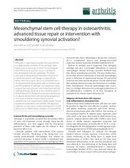 Mesenchymal stem cell therapy in osteoarthritis - Arthritis Research ...