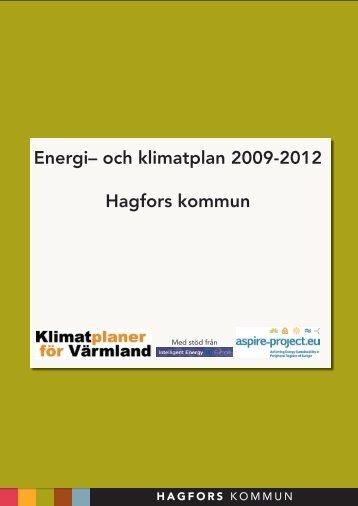 Energi– och klimatplan 2009-2012 Hagfors kommun