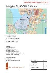 detaljplan för SÖDRA SKOLAN - Hagfors