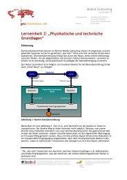 """Lerneinheit 2: """"Physikalische und technische Grundlagen"""""""