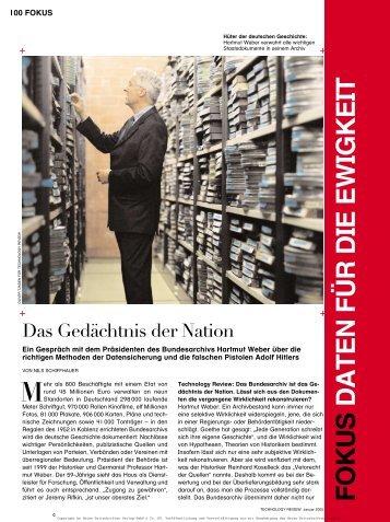 FOKUS DATEN FÜR DIE EWIGKEIT - Schiffhauer, Nils