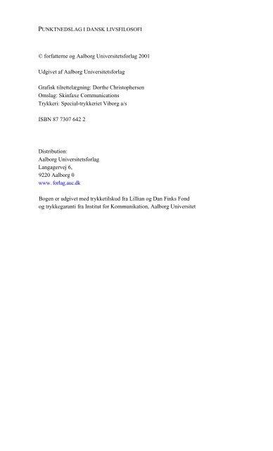 © forfatterne og Aalborg Universitetsforlag 2001 Udgivet af Aalborg ...