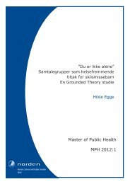 Master of Public Health MPH 2012:1 - Nordiska högskolan för ...