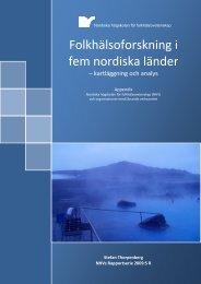 Folkhälsoforskning i fem nordiska länder - kartläggning och analys