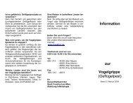 Information zur Vogelgrippe (Geflügelpest) - EAGOSH!