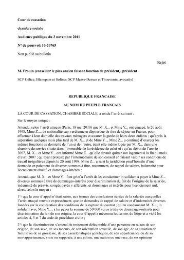 CAS, 3 novembre 2011, n° 10-20765 (PDF, 92.2 ko) - Gisti