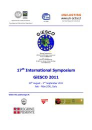 17th International Symposium GiESCO 2011 - Università degli Studi ...