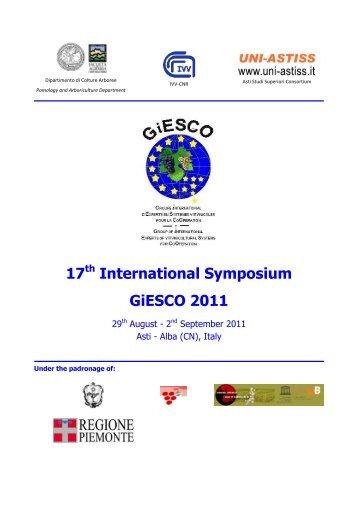 17th International Symposium GiESCO 2011 - Università degli Studi ...