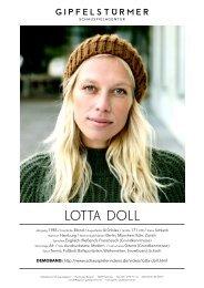 LOTTA DOLL - Schauspielagentur Gipfelstürmer