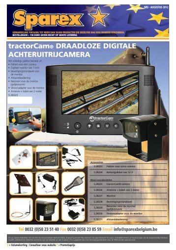 tractorCam® DRAADLOZE DIGITALE ... - Sparex