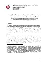 Bestuderen van het ontwerp van Koninklijk Besluit betreffende het ...