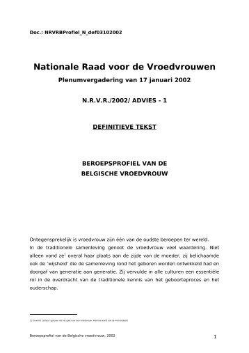 BEROEPSPROFIEL VAN DE - Ministerie van Sociale Zaken ...