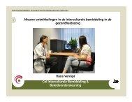 Nieuwe ontwikkelingen in de interculturele bemiddeling in de - FOD ...